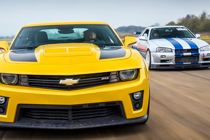 Bumblebee Camaro ZL1 or R34 GTR Nissan Skyline Driving Experience