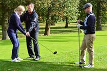 9 Hole Playing Lesson with £5 Voucher for Two Thumb