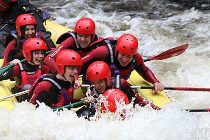 Saturday White Water Rafting Session at Canolfan
