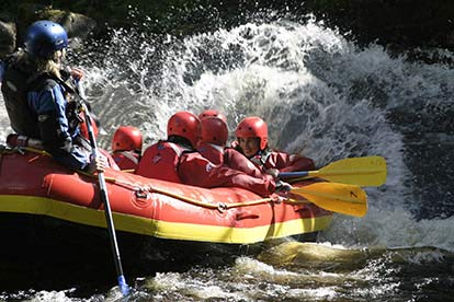 Sunday White Water Rafting Session For Six At Canolfan