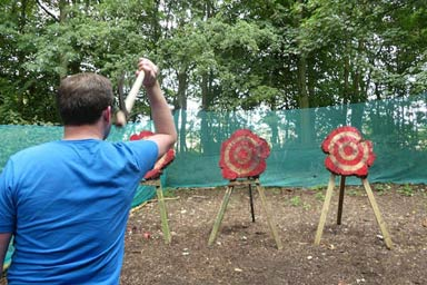 Axe Throwing for Two Thumb