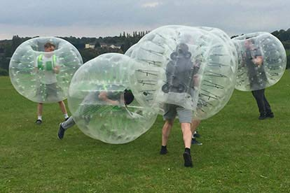 Bubble Football for up to 12 People