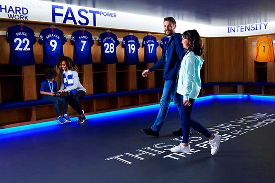Family Tour of Chelsea Stadium