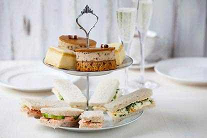 Champagne Afternoon Tea at The Highbullen Hotel