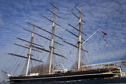 Admission to the Cutty Sark with a Meal for Two