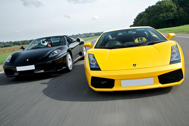 Ferrari & Lamborghini Thrill with Passenger Ride & Photo
