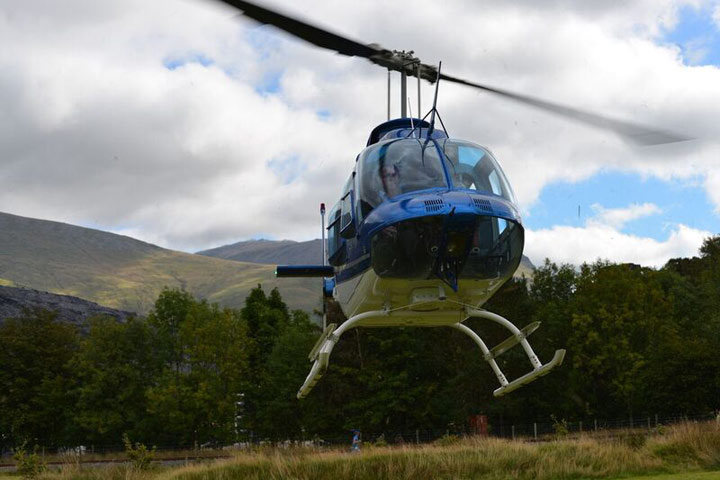 Helicopter Tour of Welsh Countryside