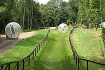 Hydro and Harness Zorbing for Two Thumb