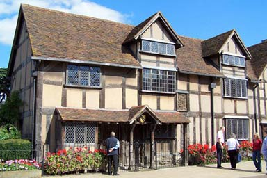 Shakespeare's Birthplace and Three Course Meal at Café Rouge for Two