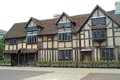 Shakespeare's Birthplace and Three Course Meal at Café Rouge for Two Thumb