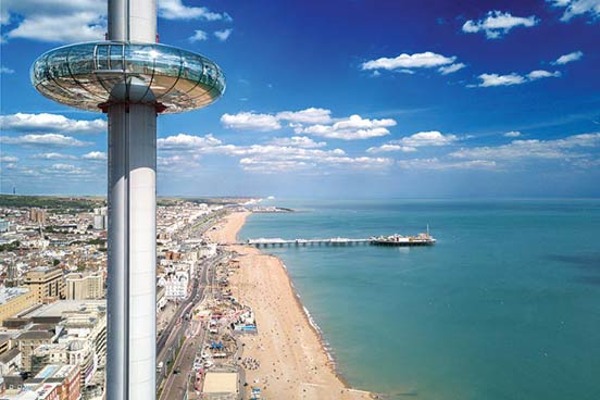 A Visit to The British Airways i360 and a Three Course Meal at Café Rouge