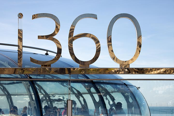 A British Airways i360 Visit & 3 Course Meal at Café Rouge for 2