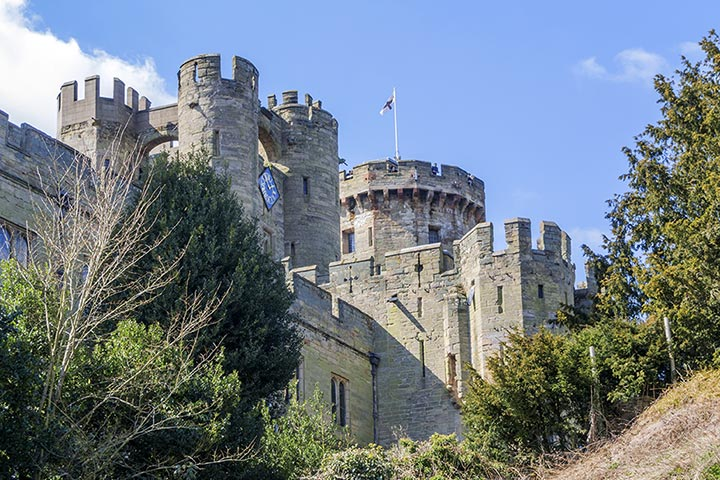 Entrance to Warwick Castle and Afternoon Tea for Two