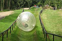 Hydro Zorbing for Two Thumb