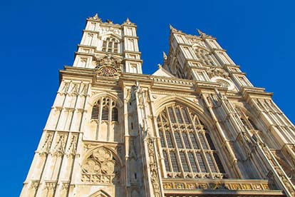 Entrance to Westminster Abbey and a Meal for Two